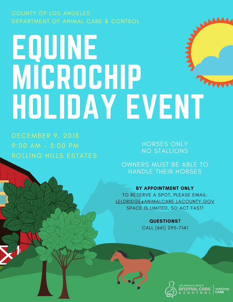 2018 Equine Microchip Holiday Event
