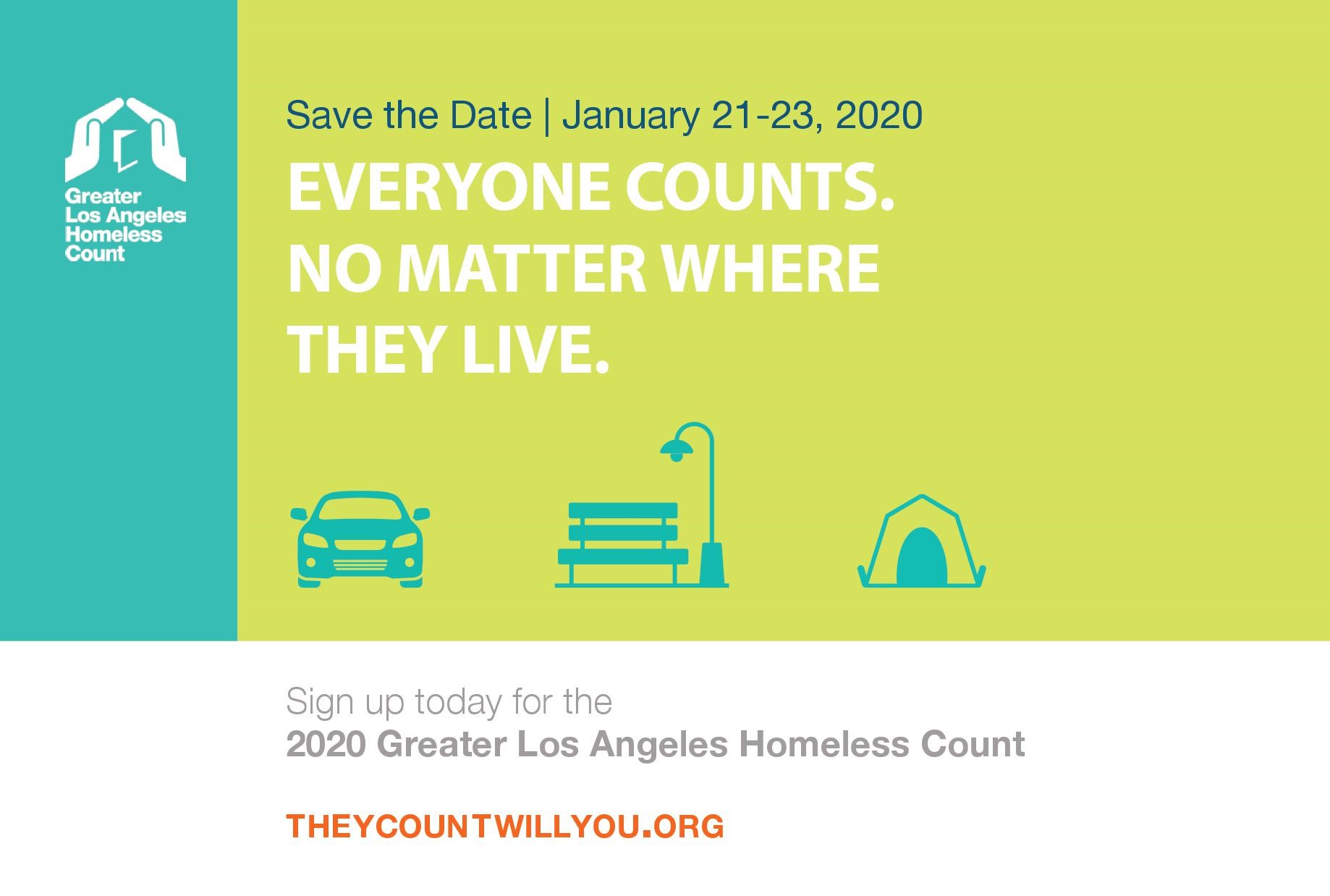 Save the Date Homeless Count